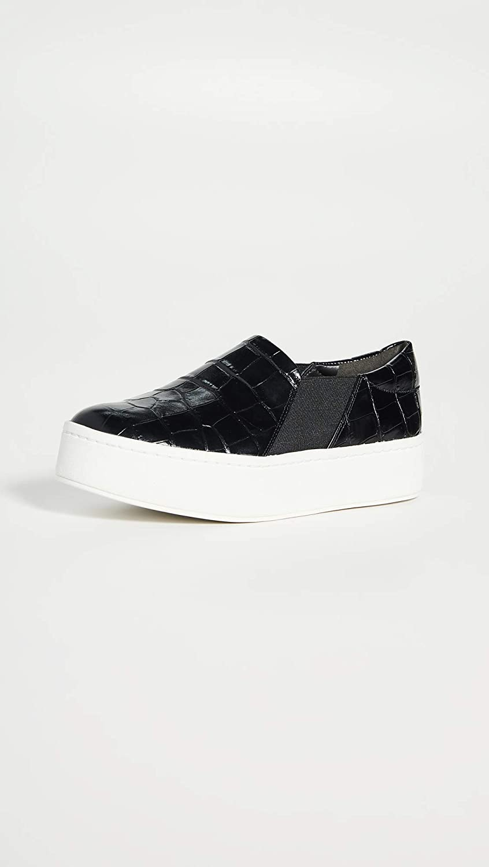 9 Medium US Black Vince Womens Warren Slip On Sneakers