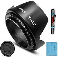 49 mm linshuvud, Fotover universal tulpanblomma linsskydd med centrum nypa linsskydd för Canon Nikon Sony Pentax Olympus…
