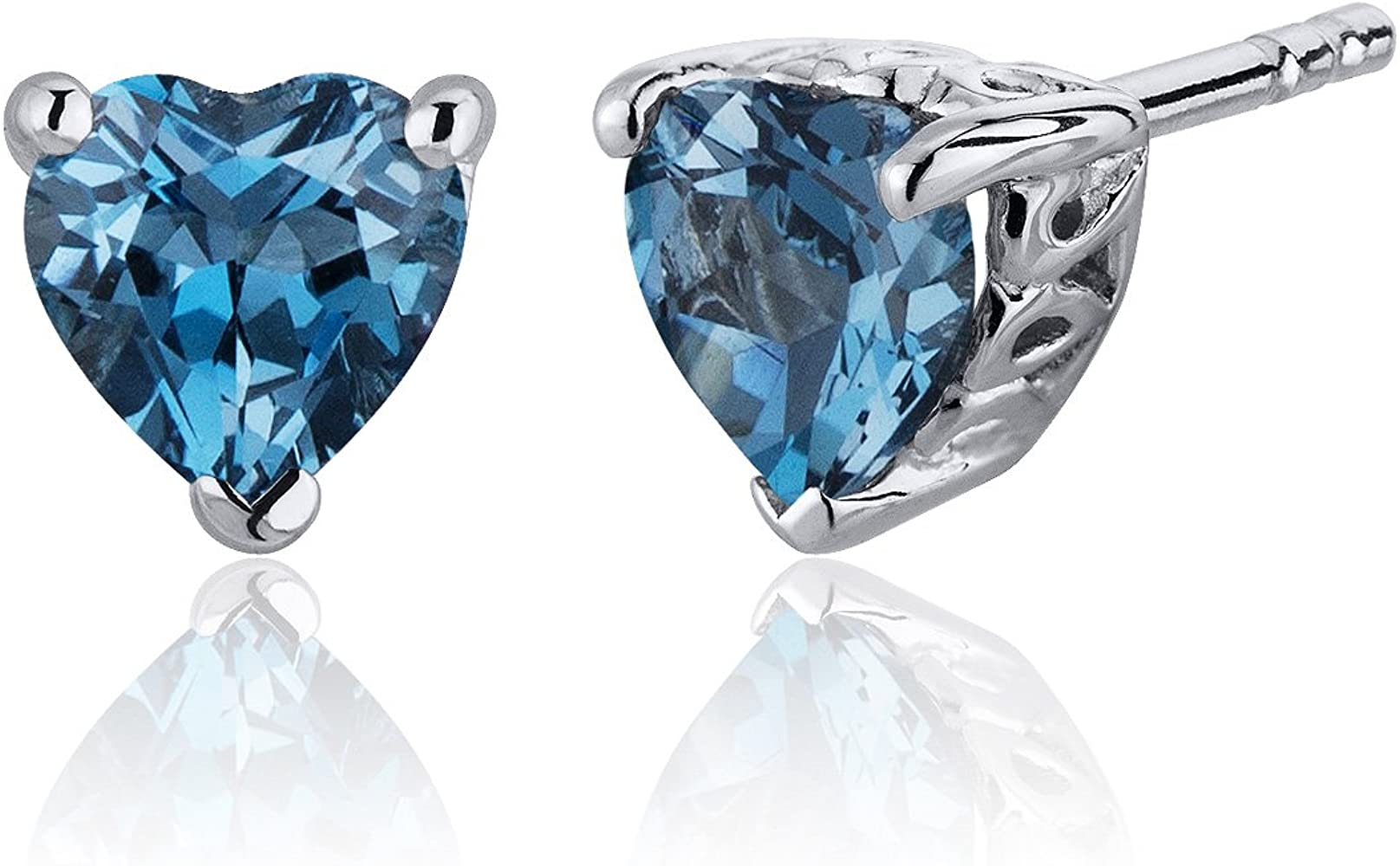 305cbd2af Frequently bought together. Choose items to buy together. London Blue Topaz  Heart Shape Stud Earrings Sterling Silver ...