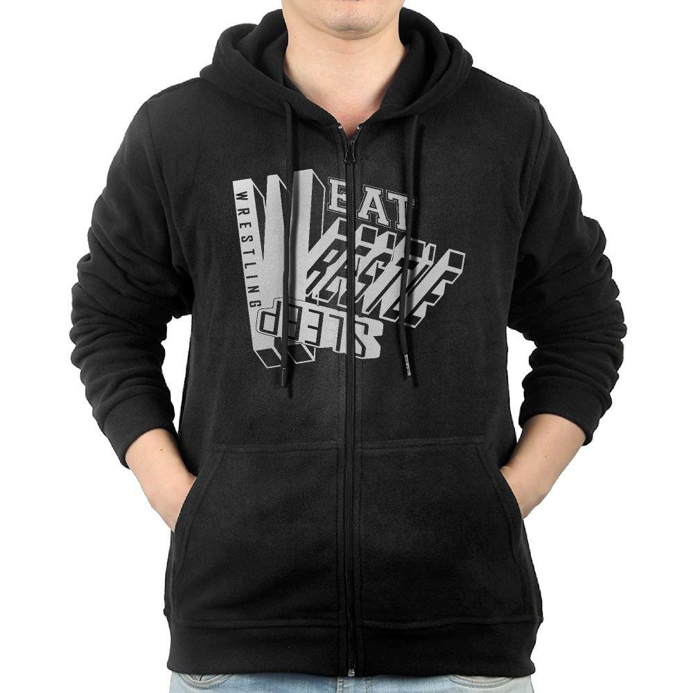 NHTRGB Eat Sleep Wrestle Wrestling Man's Best Fashion Zipper First Quality Hoody