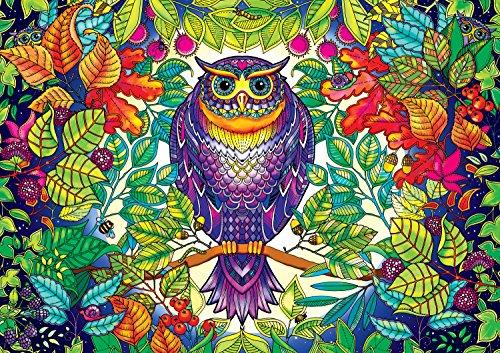 Buffalo Games - Johanna Basford's Secret Garden - Forest Owl - 500 Piece Jigsaw Puzzle