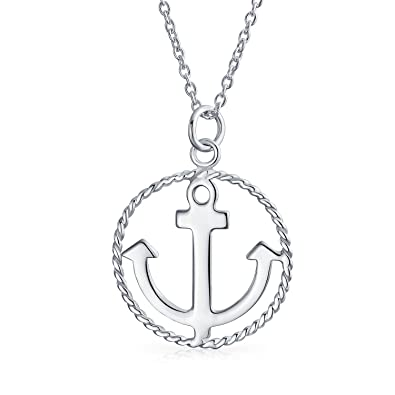e108e9578bce Image Unavailable. Image not available for. Color  Nautical Ship Boat Anchor  Round Circle Rope Pendant ...