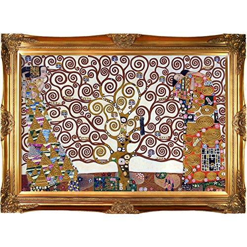 La Pastiche KLG2143-FR-6996G24X36 Pintura al óleo enmarcada El árbol ...