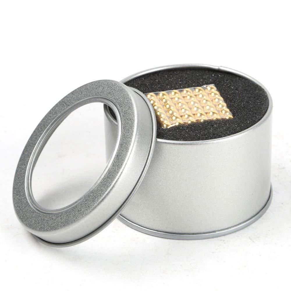Puzle de Bolas de 216 Bolas Magn/éticas 5mm Dorado ZEJUN101 Puzzle de Bolas Magneticas de Neodimio