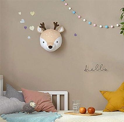 3D T/ête de Cerf en Peluche D/écoration Murale Suspendu Cadeaux Anniversaire No/ël Ornement Animal pour Chambre dEnfant
