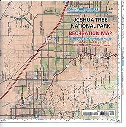 Joshua Tree National Park Recreation Map Tom Harrison Maps Tom