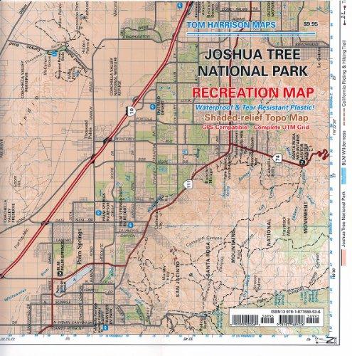 Joshua Tree National Park Recreation Map (Tom Harrison Maps)