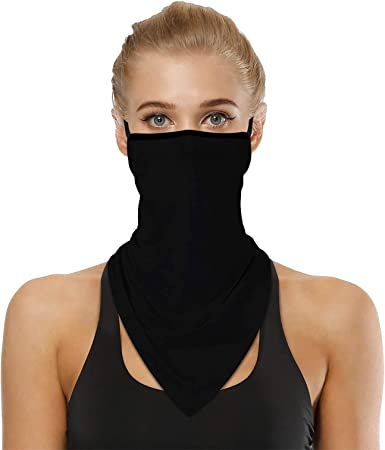 Unisex Neck Gaiter Cycling Balaclava Mask Headwear with Earloops Neck Scarf Breathable UV Protection Face Cover for Outdoor Kids Evershop Children Face Bandanas