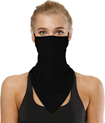 TOPEREUR Unisex Bandana Balaclava Face Mask Multifunctional Wide Headwrap Motorcycling Dust Windproof Neck Warmer Floral Print,Oranges,Bohemian,Turtle