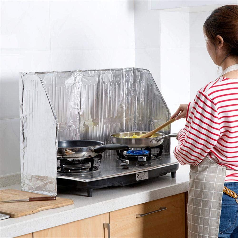 Banane Cucina Splatter Guard Pieghevole Olio da Cucina Paraspruzzi in Alluminio Lamina a Gas Shield Isolamento Oil Anti Splash Block Protezione di Sicurezza Strumento 12050CM gentilezza