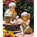 Kids with Solar Fireflies Girl and Boy