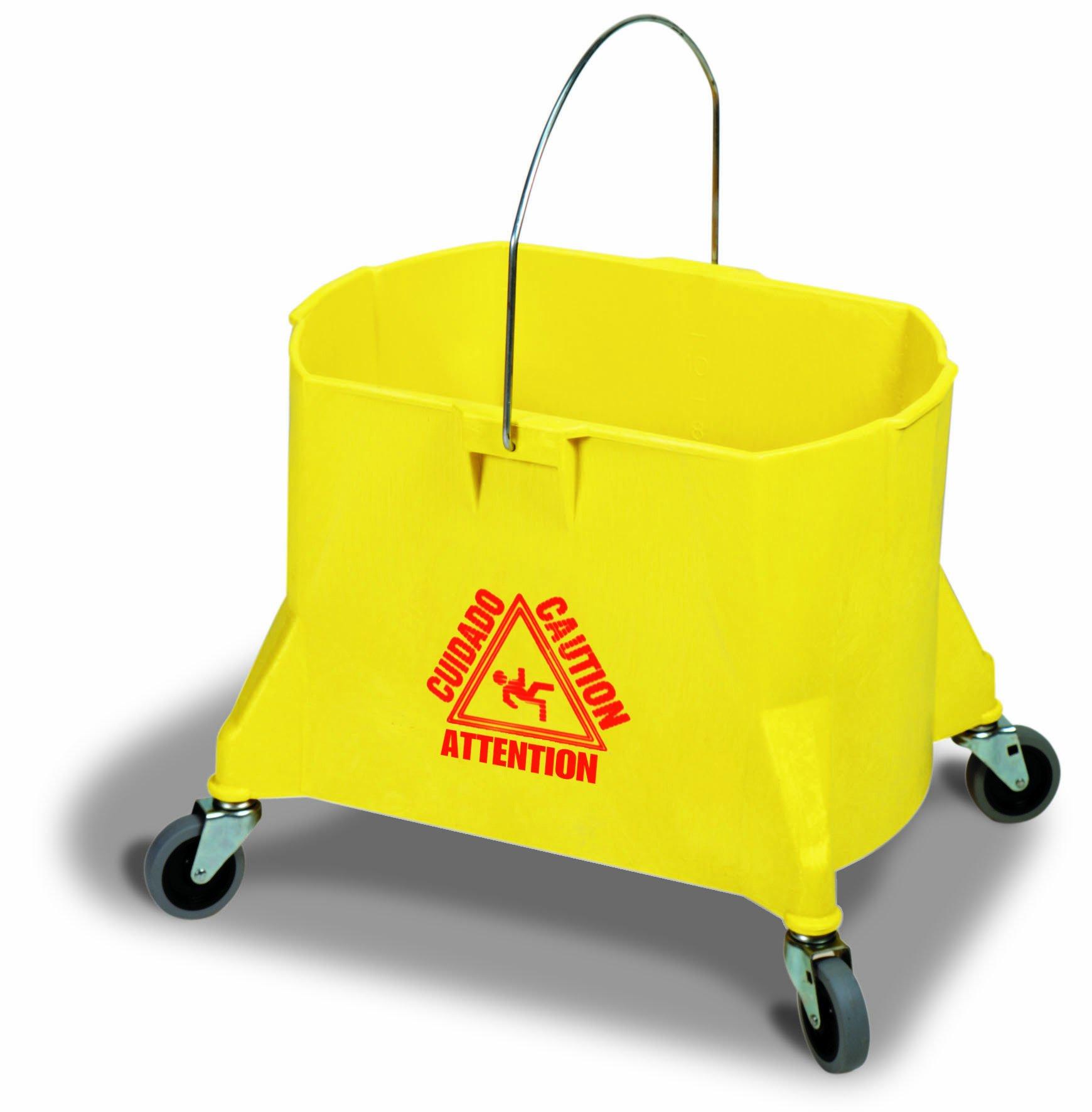 Continental 404-3YW, Yellow 44 Quart Structolene Mop Bucket (Case of 1)