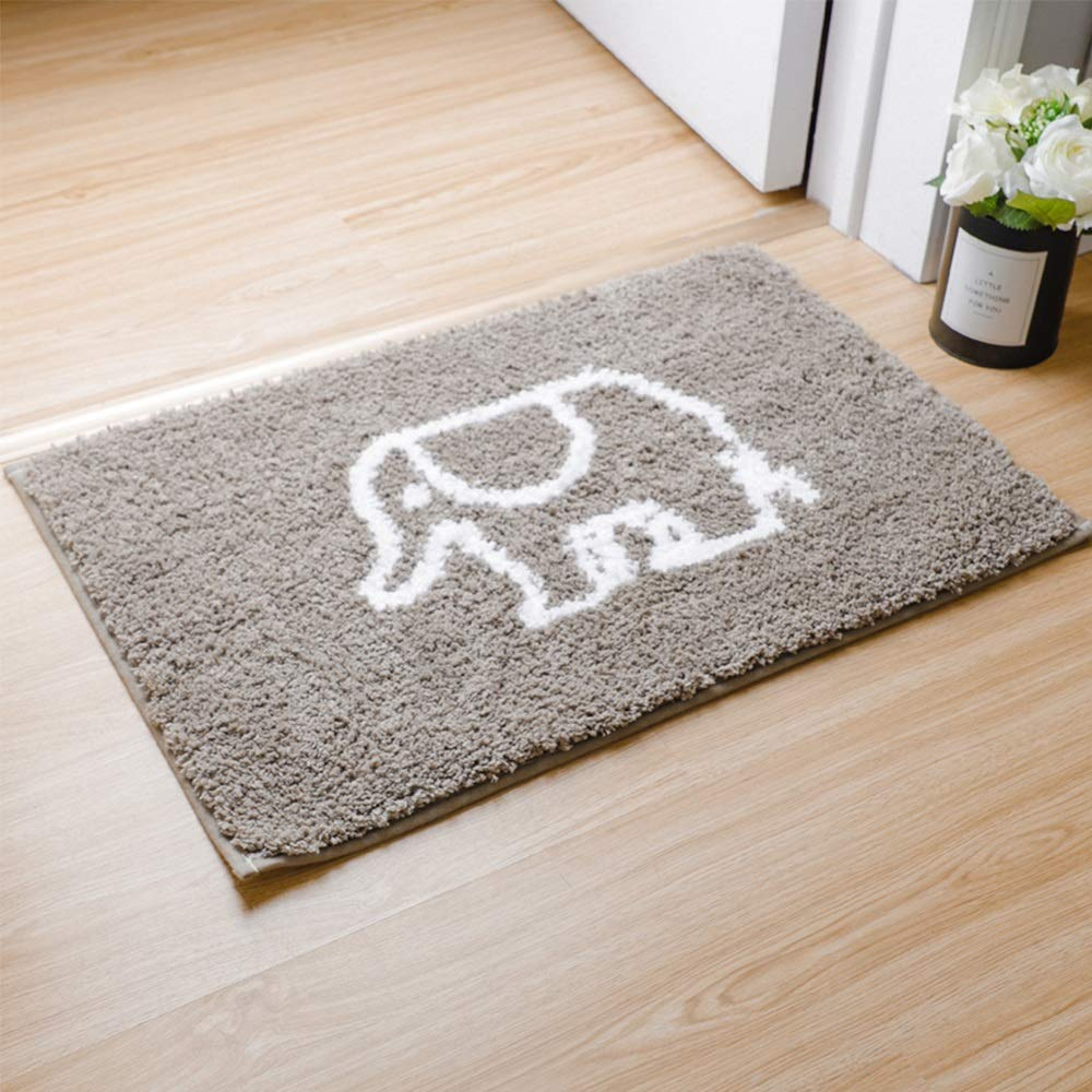 Elephant 4060CM Door mat Floor mat - Mixed Non-Slip Latex Sole, Dense Fluff, Comfortable and Soft, Absorbent and Non-Slip, Nordic Household Bathroom Door with Absorbent Non-Slip mats - 3 Styles, 3