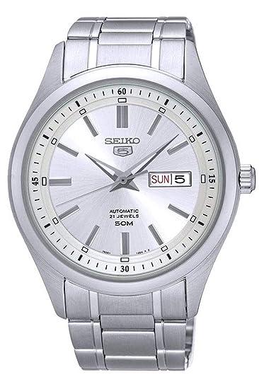 Seiko SNKN85K1 - Reloj de Pulsera para Hombre, Gris/Metálico: Amazon.es: Relojes