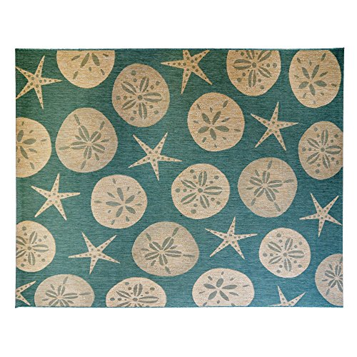 Cheap  Gertmenian 21269 Nautical Tropical Rug Outdoor Patio, 8x10 Large, Starfish Green