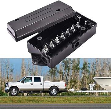 MACHSWON Caja de conexiones eléctrica, caja de conexiones, caja de conexiones para coche, remolque, caravana, impermeable, universal: Amazon.es: Coche y moto