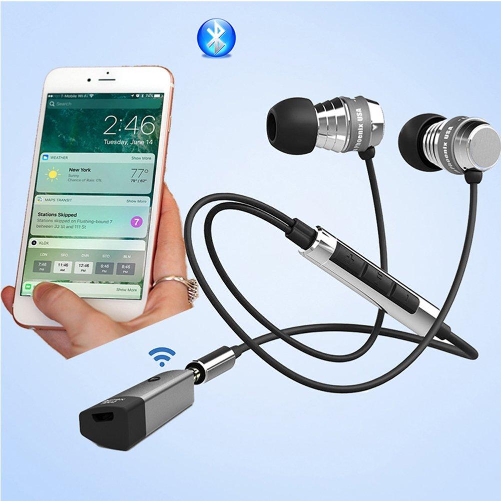 Ricevitore Bluetooth 4.1 Airfrex Ricevitore Audio Auto Adattatore Bluetooth Wireless Adattatore Audio con Microfono Incorporato e 3,5 mm Jack per Cuffie e Auto Altoparlanti e HI-FI Sistemi