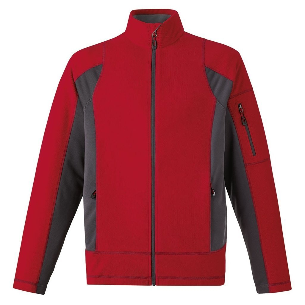 Ash City Mens Generate Mens Textured Fleece Jacket Classic Red