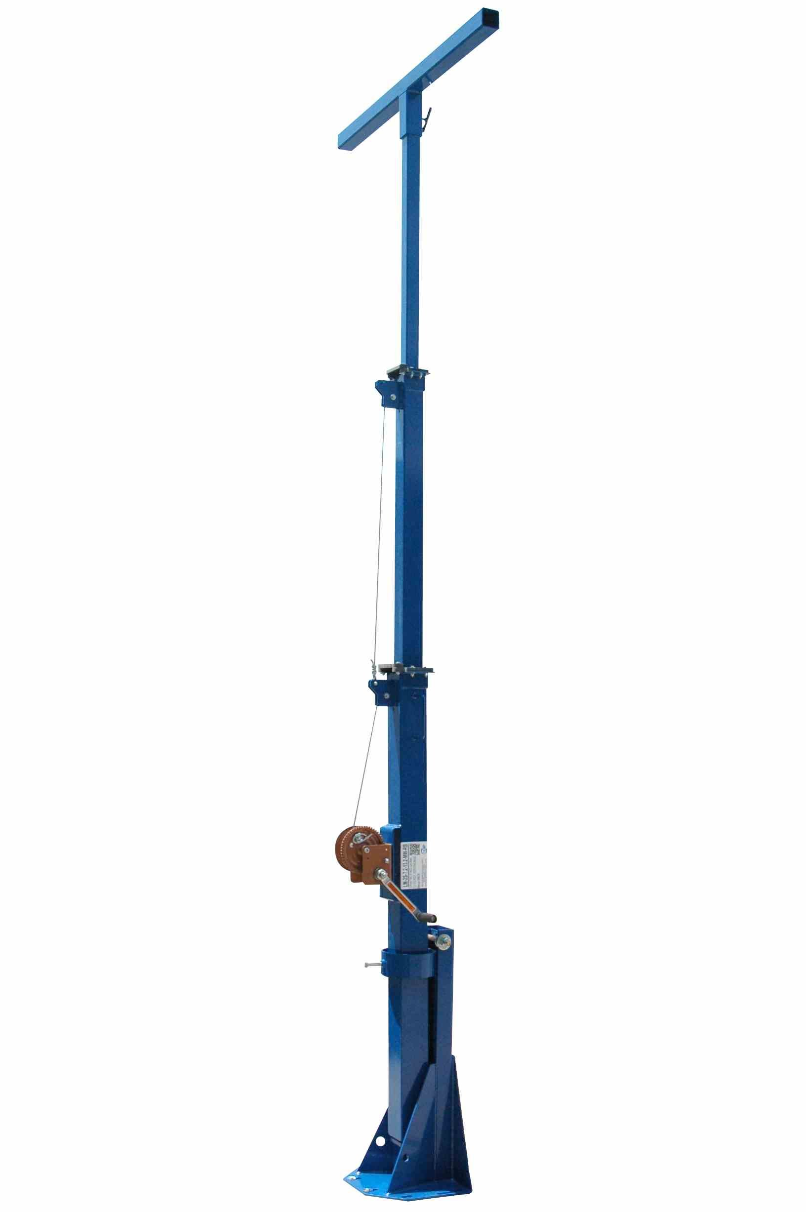 20' Four Stage Telescoping Mini Light Mast - 8' to 20' Fold Over Light Boom - 150 MPH Wind Rating