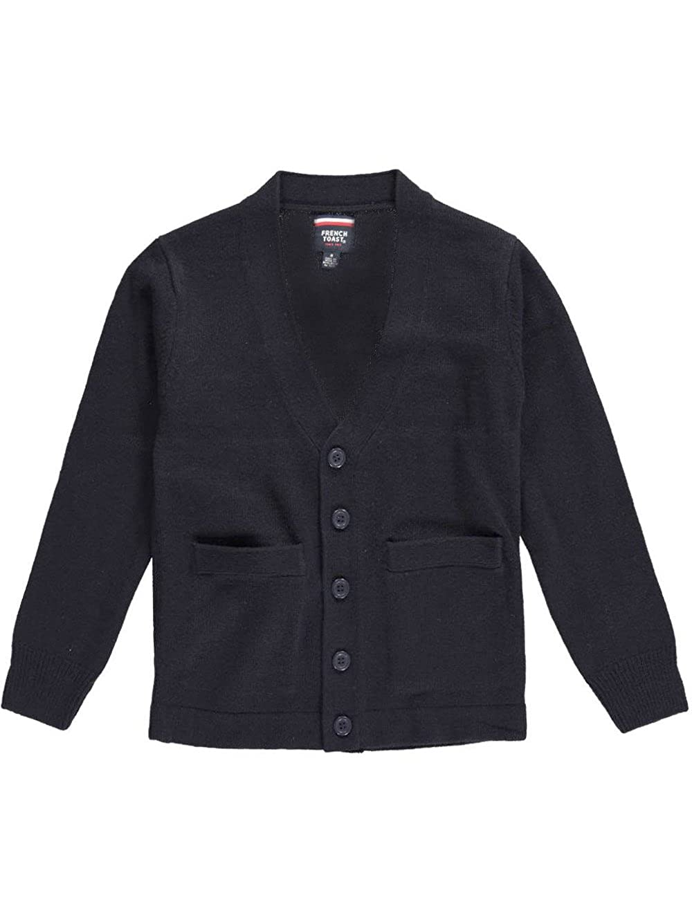 French Toast Little Boys' Welt Pocket Cardigan - navy, 4-5