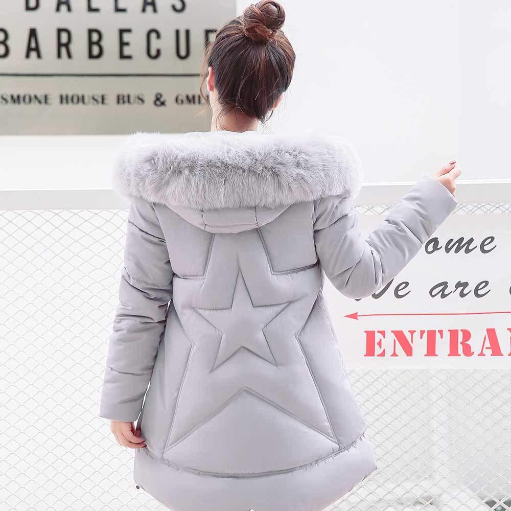 Amazon.com: DICPOLIA Womens Slim Parka Jacket Hooded Down Winter Coats Jackets Outwear Coat: Clothing