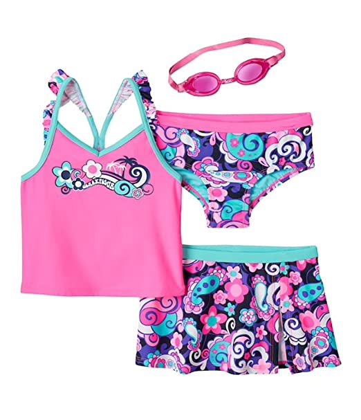 Amazon.com: ZeroXposur Little Girls Fantasia 3-pc Tankini ...