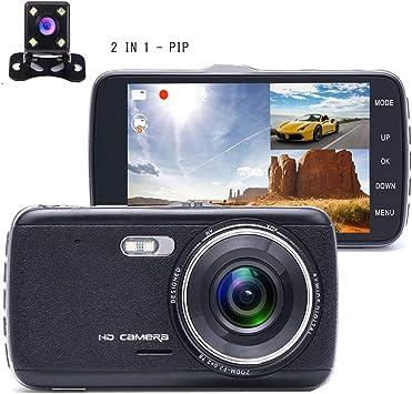 Dashcam, Cámara de coche Full HD de 1080P con lente de gran ángulo ...