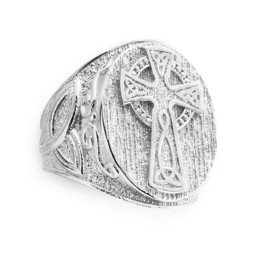 Dainty 925 Sterling Silver Celtic Cross Trinity Knot Ring (Size 7)