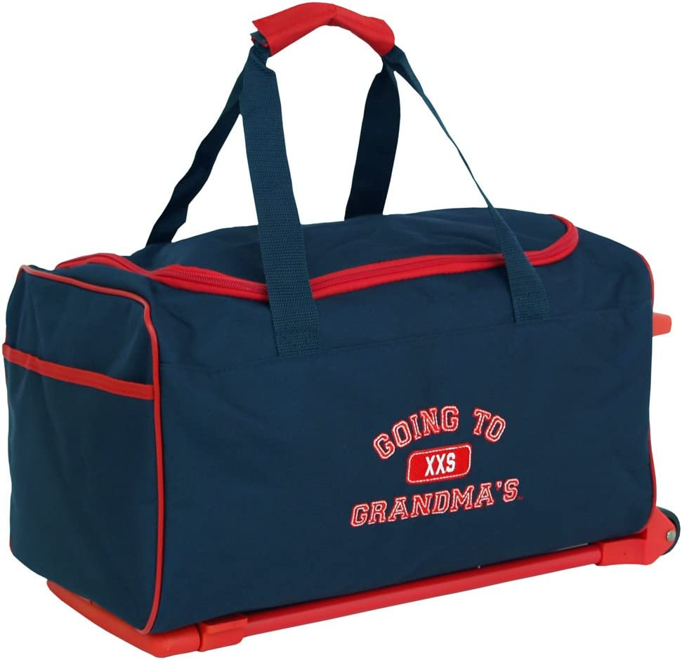 Mercury Going to Grandma s Wheeled Duffel Childrens Luggage, Small, Navy Blue