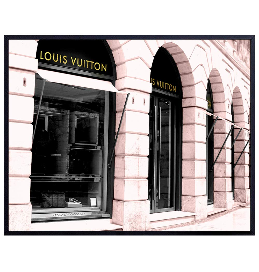 Photo of Louis Vuitton LV Store - Glam Wall Decor Designer Art – Unique Home Decor Poster for Apartment, Office, Living Room, Bedroom – Chic Gift for Women, Couture Fashion Fans – 8x10 Picture Print