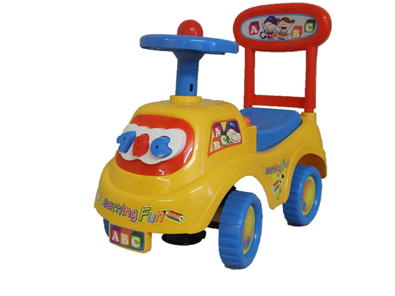 Allkindathings Push Along Ride On Car Children Car Toy Alphabet Themed Storage Red Yellow Blue Three Bowness Ltd 1883