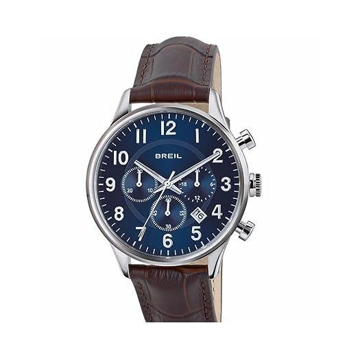 Breil Reloj Cronógrafo para Hombre de Cuarzo con Correa en Cuero TW1576: Amazon.es: Relojes