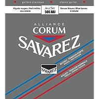 Savarez 656120 - Cuerdas para Guitarra Clásica Alliance Corum 500ARJ Juego Tensión mezcladas gris,roja,azul