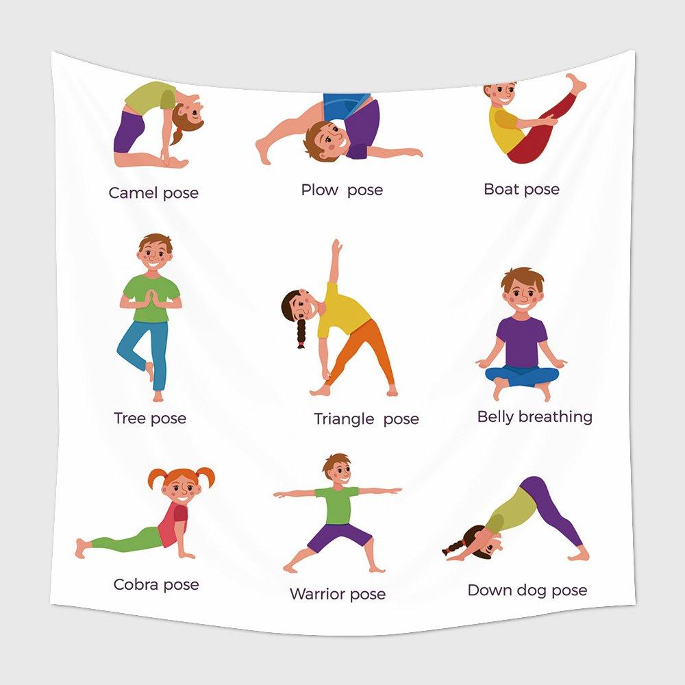 Amazon.com: Juego de postes de yoga para colgar en la pared ...