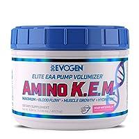 Evogen AminoKEM | Premium Essential Amino Acid, Nitric Oxide, Betaine anhydrous, S7, Recovery, volumizing, Pump Catalyst | Sour Watermelon