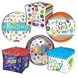 LuftBalloons Everyday Message Geometric ProfitPak 15pk