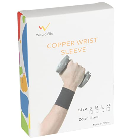 Amazon Wawavita Copper Compression Recovery Wrist Sleeve