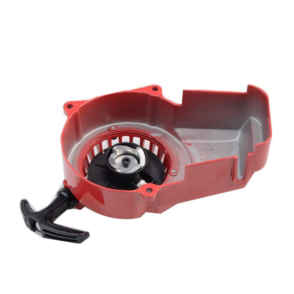 GOOFIT rouge D/émarreur aluminium P/édales de d/émarrage Filtre /à air carburateur dembrayagede vitesses Cylinder kit 47cc 49cc 2 temps Engine
