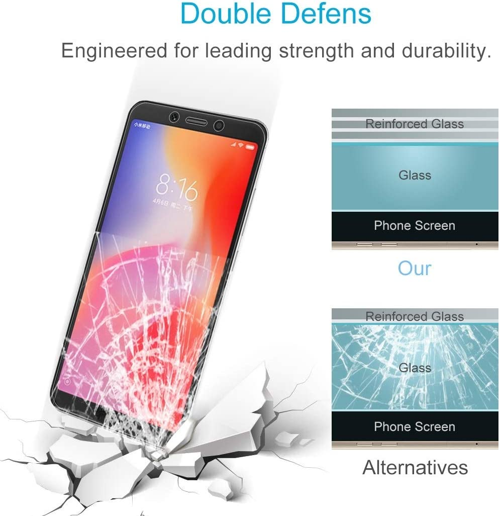 iPartsBuy Tempered Protective Film for Xiaomi 100 PCS 0.26mm 9H 2.5D Tempered Glass Film for Xiaomi Redmi 6