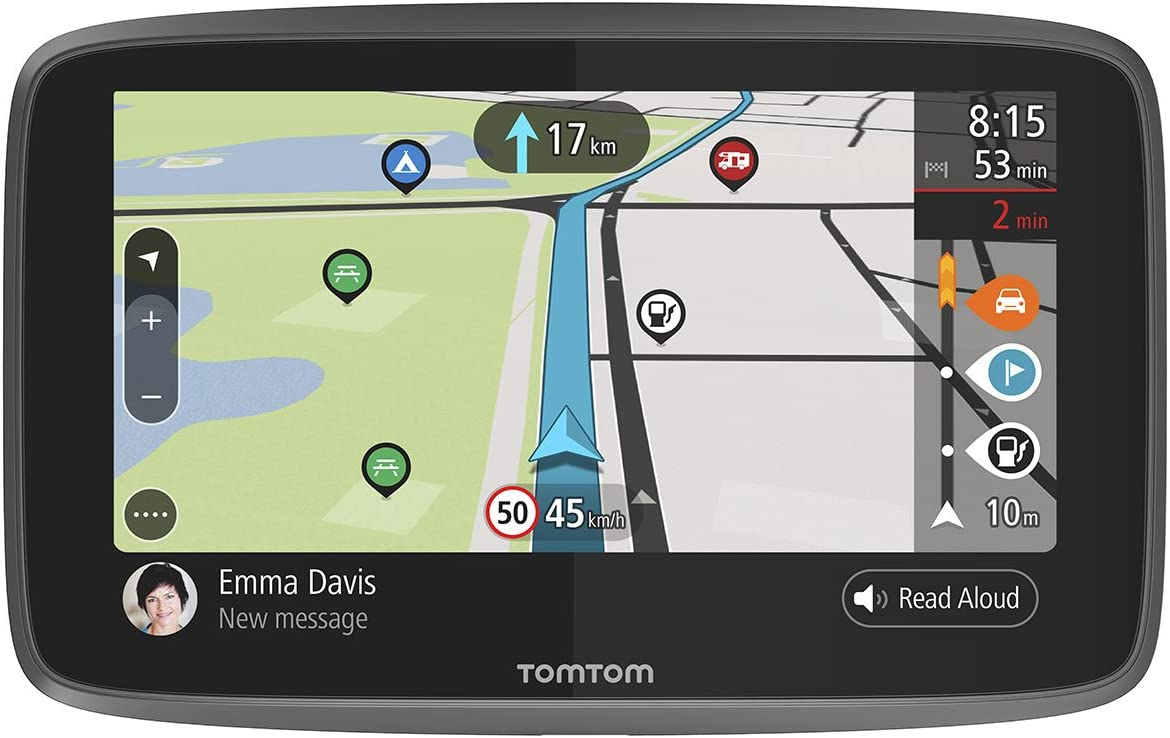 TomTom GPS Camping Car GO Camper - 6 Pouces, Cartographie Monde, Trafic via Smartphone, TomTom Road Trips, Wi-Fi Intégré