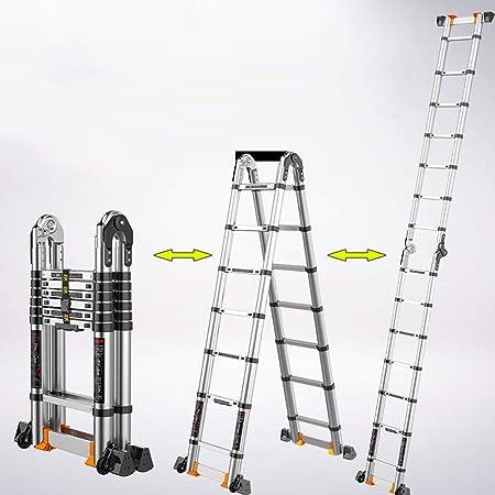 MC-BLL-ladder Escalera Plegable para el hogar Que Ahorra Espacio Funciona Espina Gruesa telescópica Shen retráctil Escalera retráctil: Amazon.es: Hogar