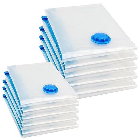 Yahee 10 piezas Bolsas Vacio para Guardar Ropa de Cambio de Temporada Herméticamente 74 cm x 130 cm/50 cm x 86 cm