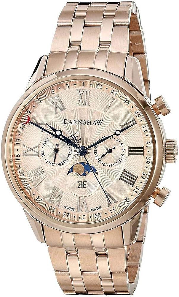 Thomas Earnshaw Men s Officer Swiss Quartz Stainless Steel Dress Watch Model ES-0017-44