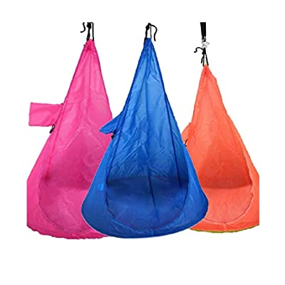 Gfones Home Child Hammock Chair Kids Swing Pod Outdoor Indoor Hanging Seat Hammocks: Sports & Outdoors