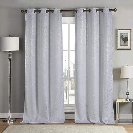 69d6bca5212e Amazon.com  kensie Maddie Metallic Blackout Darkening Window Curtain ...