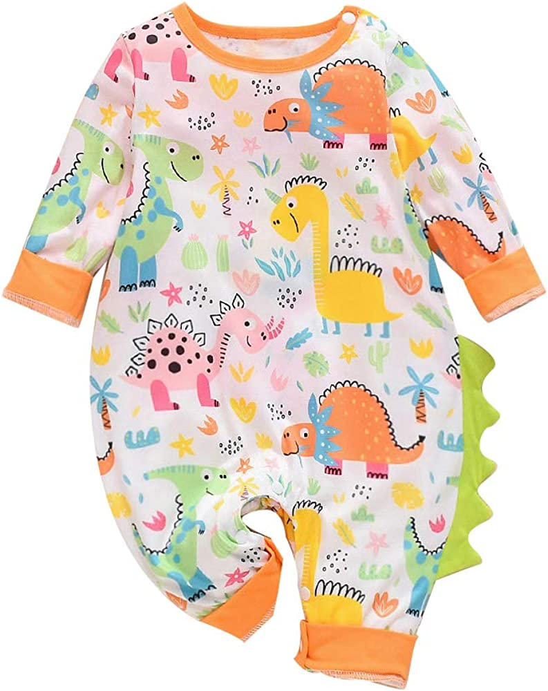 Newborn Baby Boys Girls Cotton Long Sleeve Christmas Lights Shark Baby Clothes One-Piece Romper Clothes