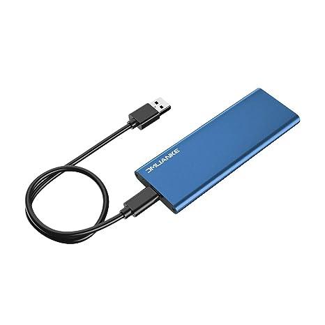 Amazon.com: Caja externa portátil de aluminio M.2/NGFF a USB ...