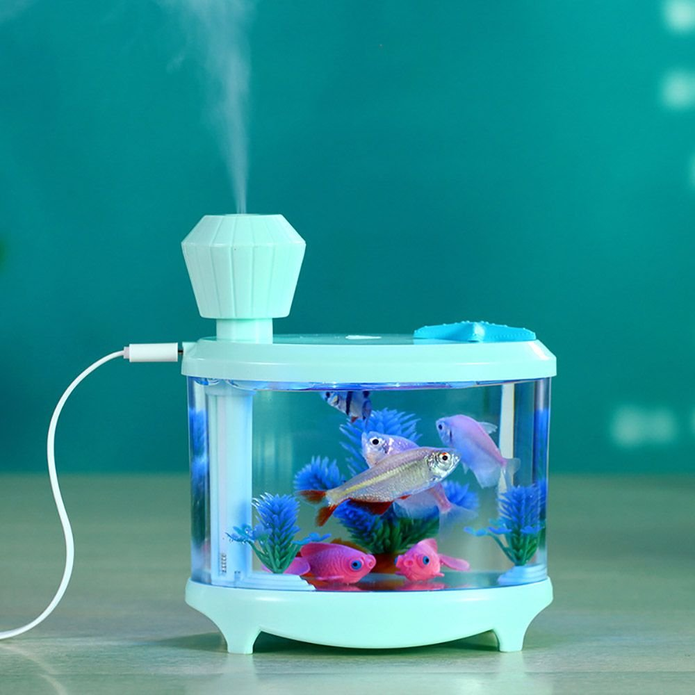 Amazon.com: VANKER Portable Fish Tank USB LED Light Humidifier Air ...