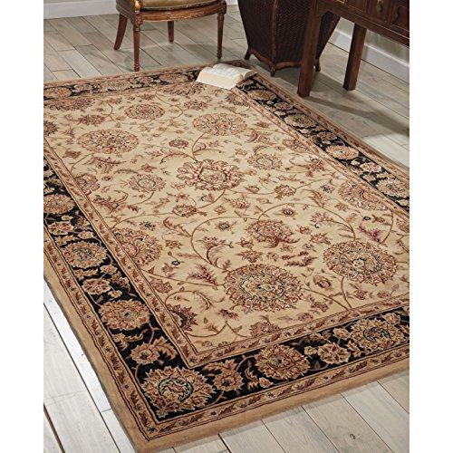 Nourison 2000 Hand-tufted Kashan Beige Wool Rug Beige 4' x 4' 4' x 4' Beige Round (Kashan Silk Rug)