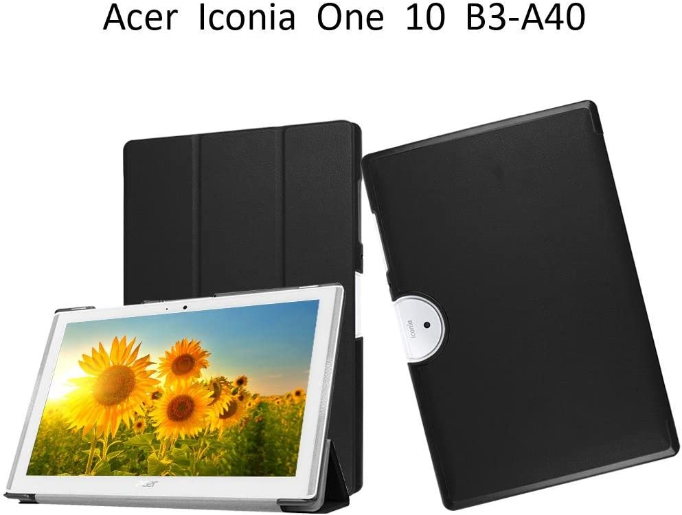 Acer Iconia One B3-A40 Case,Acer Iconia One 10 B3-A40 Flip Cover,Ultra Slim Back Cover Case Light Weight Cover for Acer Iconia One 10 B3-A40 Sleeve,Black